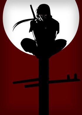 Naruto Sasuke Itachi Silhouette Sharingan Anime Manga Moon Dark Itachi Uchiha Itachi Naruto Art