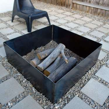 Foursquare Fire Pitbecome The Mayor Of Your Own Backyard With This Square Metal Fire Pit Ring A Fir N Portable Fire Pits Outside Fire Pits Steel Fire Pit