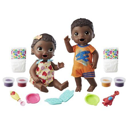 Baby Alive Snackin Twins Luke And Lily Dolls Includes Accessories Walmart Com Baby Alive Interactive Baby Dolls Best Kids Toys
