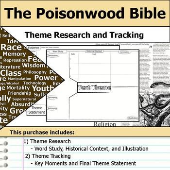 The Poisonwood Bible Theme Tracking Note Etymology Context Research Othello Word Book Thief Essay Study Guide Question And Answer Ap Literature Sample
