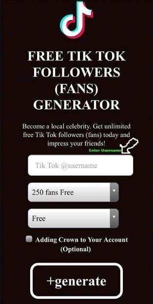 Tiktok Fans And Followers Generator How To Get Free Tiktok Followers No Human Verification Free Followers Free Followers On Instagram How To Get Famous