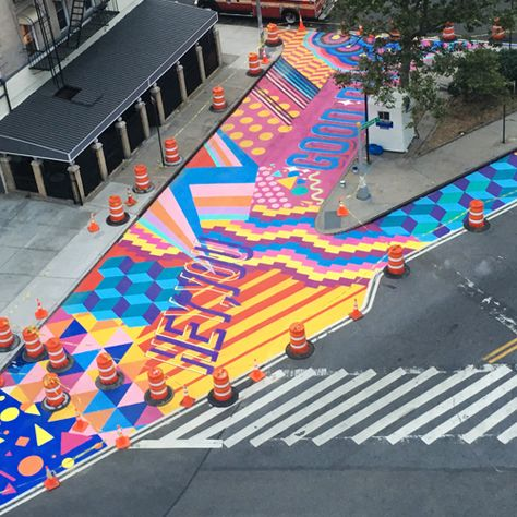 Urban Landscape, Landscape Design, Paving Pattern, Paving Design, Floor Graphics, Murals Street Art, Playground Design, Mural Wall Art, Street Furniture