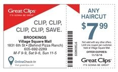 graphic relating to Printable Great Clips Coupons named Pin upon Printables