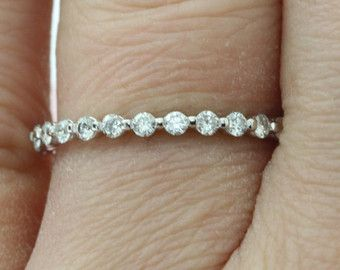 2 0mm Full Petite Eternity Bubble Breathe Floating Band 14k Etsy Diamond Wedding Bands Unique Handcrafted Jewelry Wedding Ring Bands