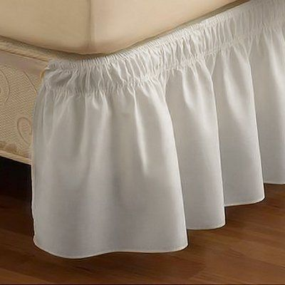 Easy Fit Easyfit Wrap Around Solid Ruffled 15 Bed Skirt