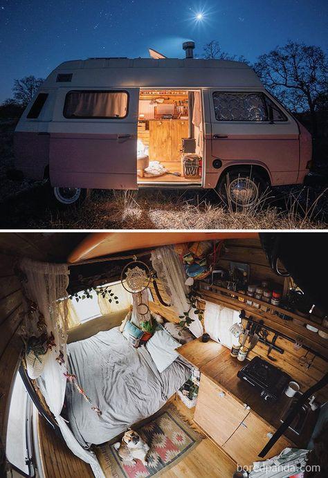 Best School Bus And Van Conversions Into Tiny House - Van Life Van Life, Wolkswagen Van, Kombi Home, Bus Living, Living Room, Bus House, Tiny House, Van Interior, Motorhome Interior