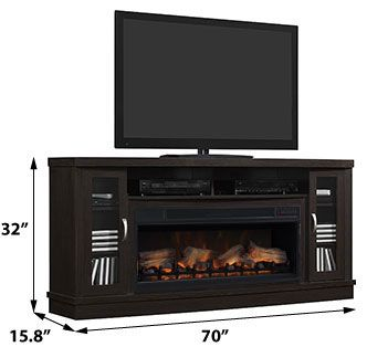Hutchinson Infrared Electric Fireplace Entertainment Center W