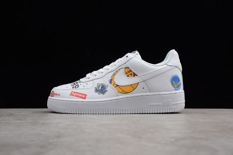 Air Force 1 Mid Supreme NBA White | White nike shoes