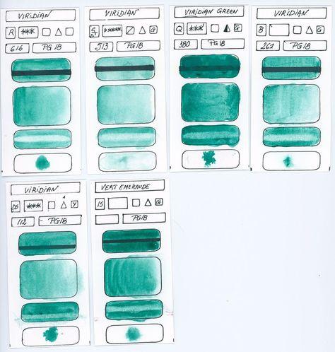 Green Pigments In Watercolor Aquarellistes Artiste Et Je Desire