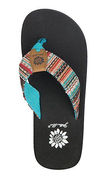 Summer sandals flip flops, Yellow box shoes
