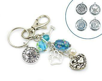Military Key Chain for Dog Lover, Navy Army USAF Air Force USMC Marine Corps,