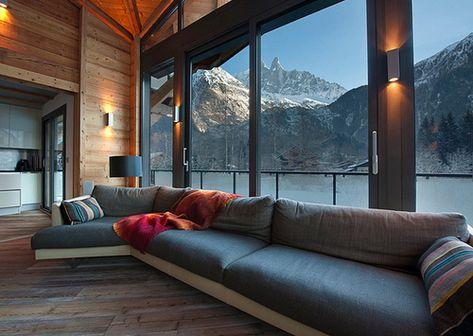 wohnzimmer landschaft deko ideen rustikal chalet hütte-interieur, Innenarchitektur ideen