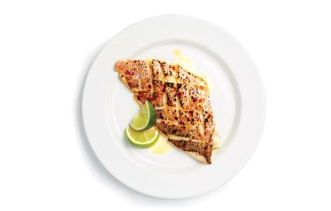 Be sure to pat the snapper fillets dry with paper towels to remove as much moisture as you can before slicing.