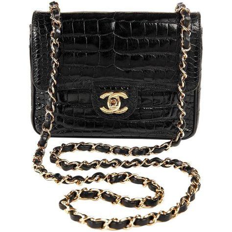 7ee0d144e750 Chanel Black Crocodile Vintage Mini Classic ( 16