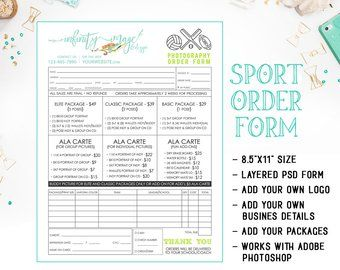 School Dance Or Dance Team Photography Order Form Template Available For Immediate Download As A Layered Photoshop Psd File Inf102bf Photography Order Form Dance Team Photography Order Form Template