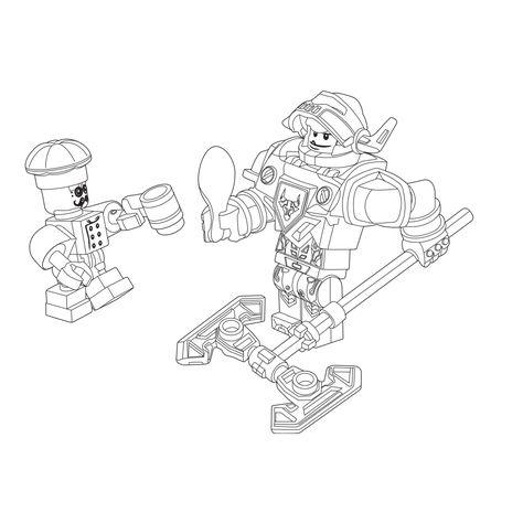 foto de Leuk voor kids kleurplaat ~ Lego Nexo knights - ridder Axl | Lego ...