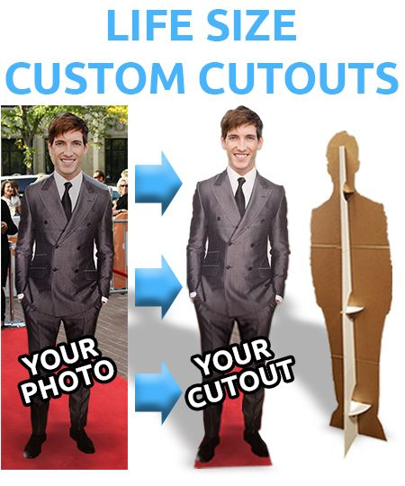 Custom Life Size Cardboard Cutouts From Your Photo Photo Cutout Life Size Cutouts Cardboard Cutout