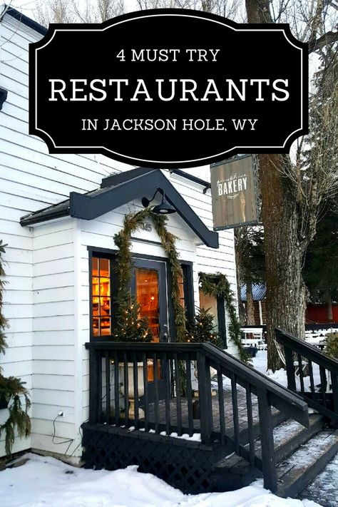 Discover 4 must try restaurants in Jackson Hole, Wyoming, including a brewpub and a steak and game house. Eat your way across Jackson Hole! Wyoming Vacation, Yellowstone Vacation, Tennessee Vacation, Yellowstone Park, Jackson Hole Wyoming, Cody Wyoming, Wyoming State, Star Valley Wyoming, Jackson Hole Skiing