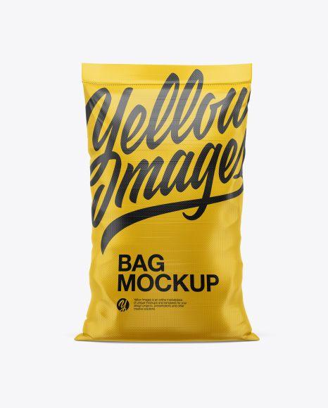 Download Polypropylene Bag Mockup Front View In Bag Sack Mockups On Yellow Images Object Mockups Mockup Free Psd Bag Mockup Mockup