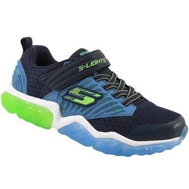 Skechers Rapid Flash Uproar Running Boys Navy Blue Kids Running Shoes Skechers Light Up Shoes