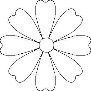 Flower Daisy 8 Petal Template By Brittney James A Flower That Could Be A Daisy Mana Vietne Kagit Cicek Boyama Sayfalari Cicek