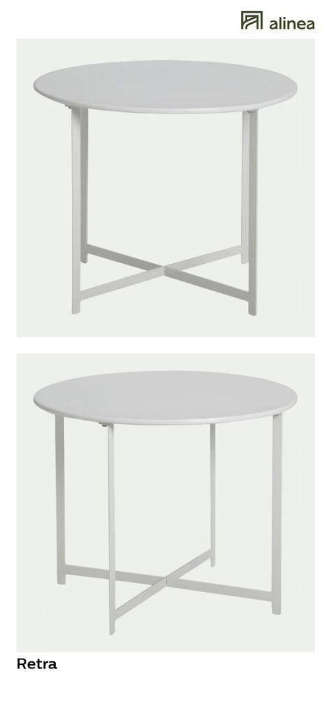 alinea : retra table basse de jardin gris clair en acier ...
