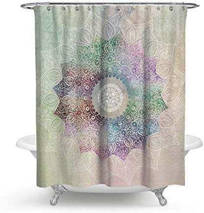 Amazon Com Lotus Flower Shower Curtain Home Kitchen Flower