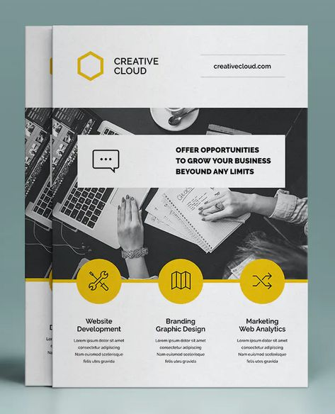 Corporate Flyer Template InDesign INDD