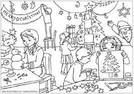 Christmas Scene Colouring Pages Christmas Village Coloring Pages