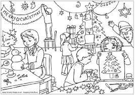 Christmas Colouring Scene Portraits