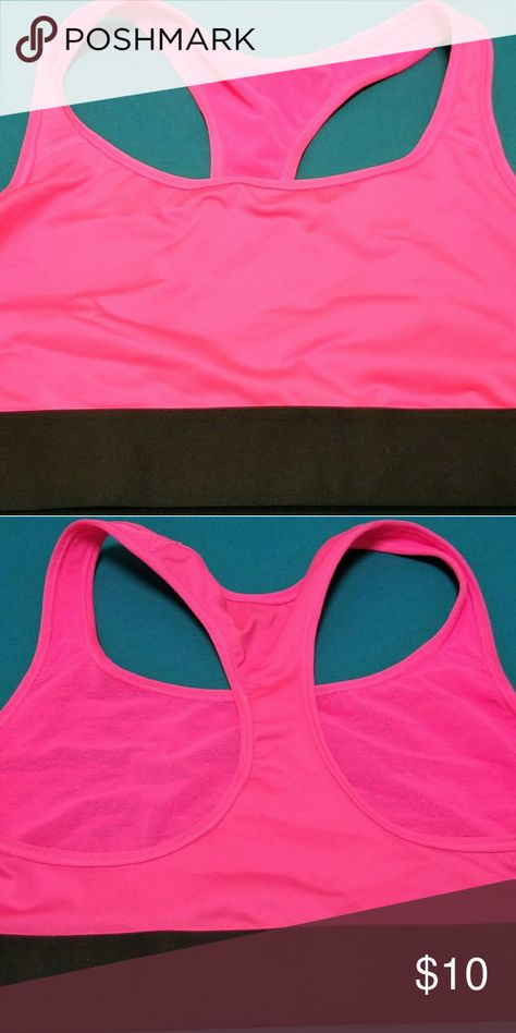 3e4ec6c0ad3be 💋NWT Victoria s Secret Sports Bra Hot pink VS Racerback Sports bra. New with  Tags. Size - L. Victoria s Secret Intimates   Sleepwear Bras
