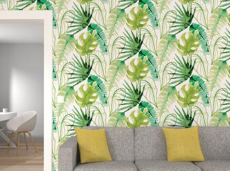 Succomberez Vous A La Tendance Tropicale Deco Avec Papier Peint