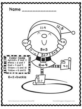 Addition And Subtraction Christmas Math Coloring Sheets Math Coloring Christmas Math Maths Colouring Sheets