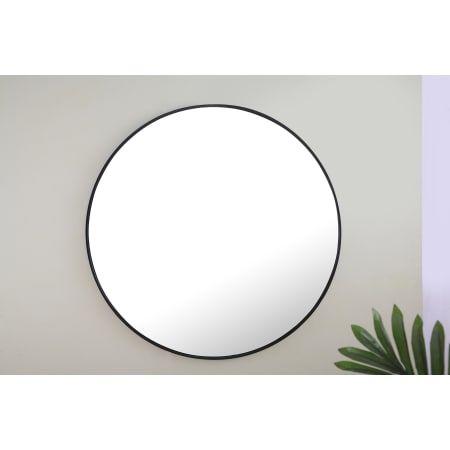 Elegant Lighting Mr4047bk Black Eternity 48 Diameter Circular Beveled Metal Framed Bathroom Mirror Elegant Lighting Framed Mirror Wall Black Round Mirror 48 inch round mirror