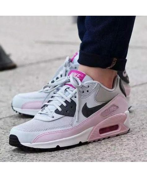 wholesale nike air max 90 essential gris rose trainers 9c9f6
