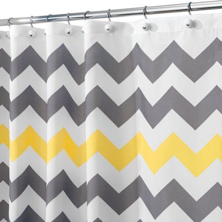 Amazon Com Interdesign Shower Curtain 72 By 72 Inch Chevron