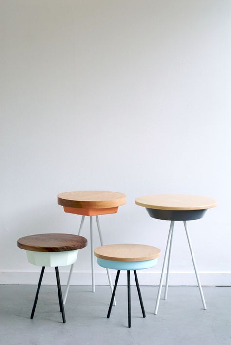 Tripod tables by Matthew Williams