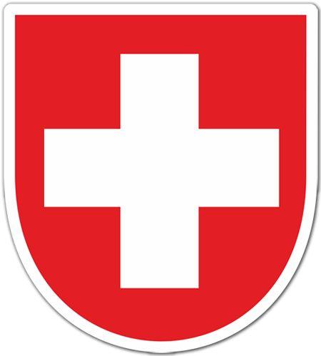 Pegatinas: bandera Suiza #bandera #pegatina #TeleAdhesivo