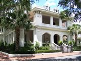 The Walker Mansion is an elegant 1911 stucco over concrete block, Italian renaissance home overlooking Forsyth Park. It was built for Captain George Walker, cofounder of Strachan Shipping Company, and president of the Savannah Cotton Exchange.