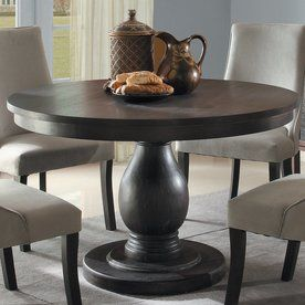 Homelegance Dandelion Distressed Taupe Round Dining Table 2466 48