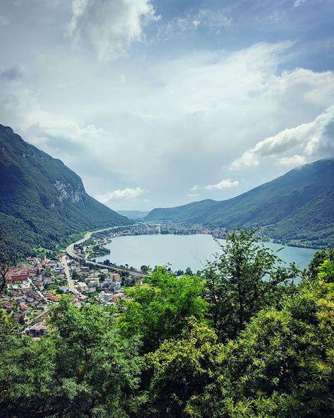 stable quality sports shoes exquisite design paesaggi svizzeri] è per lavoro... il lago di #lugano visto ...
