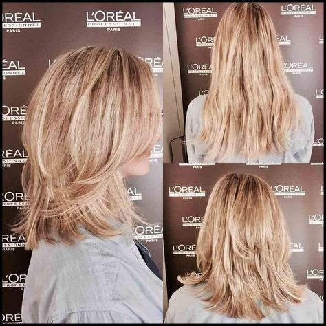 There are so many benefits to wearing layers in your hair, especially when you have medium length hair. Medium hair is a good haircut for every woman. And by adding layers, you help add shape, volu…