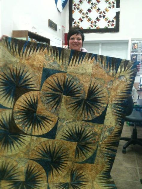 Japanese Fan ~ Quiltworx.com by Around the Block