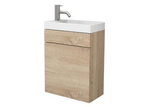 Pico 40 Mineralguss Waschtisch Set Mit Blende Tur Wc Waschbecken Waschbecken Gaste Wc Mineralguss Waschtisch