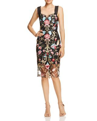 Bronx And Banco Agata Embroidered Cocktail Dress Bloomingdale S Embroidered Cocktail Dress Womens Cocktail Dresses Dresses