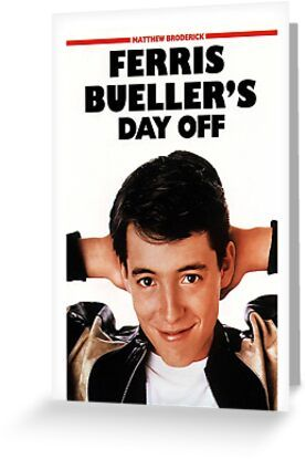 Ferris Bueller's Day Off Greeting Card & Postcard by Zakmacattack