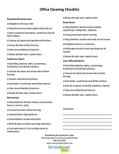 Printable Office Cleaning Checklist To Stay Neat Clean Clean