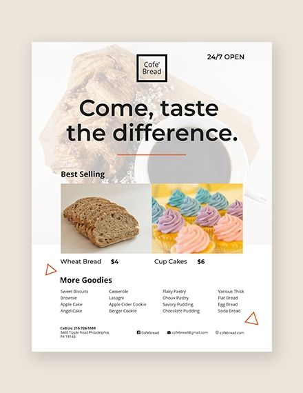 Bakery Flyer | Business Flyer Marketing designs | Business flyer
