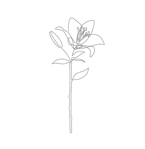 Fill Lily Mini Art Print by explicitdesign Mini Tattoos, Dainty Tattoos, Baby Tattoos, Pretty Tattoos, Small Tattoos, Foot Tattoos, Small Lily Tattoo, Tatoos, Lilly Flower Tattoo