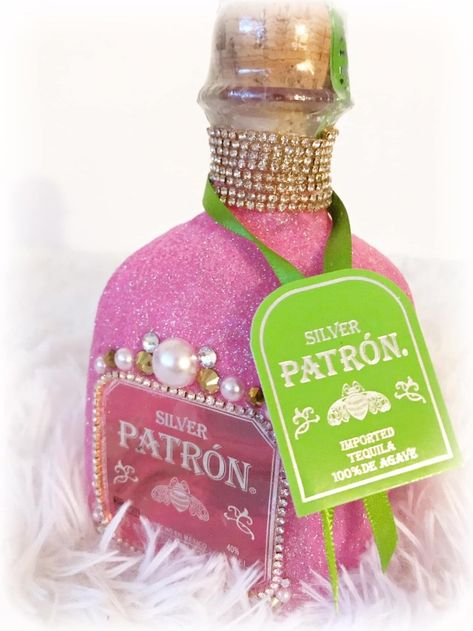 Gift Baskets, Custom Bottle Art, ETC. : Sincerely Gifted Creations - The Awkward Armadillo Bedazzled Liquor Bottles, Decorated Liquor Bottles, Bling Bottles, Tequila Bottles, Glitter Wine Bottles, Alcohol Bottle Decorations, Alcohol Bottle Crafts, Alcohol Gifts, Patron Bottle Crafts